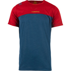 La Sportiva Crunch T-Shirt Men opal/chili
